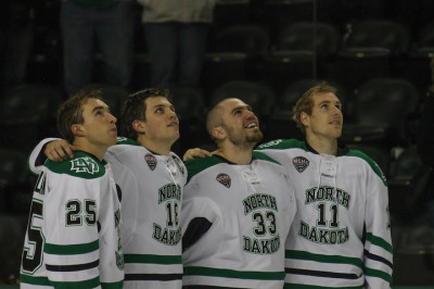 Tough ending for UND seniors